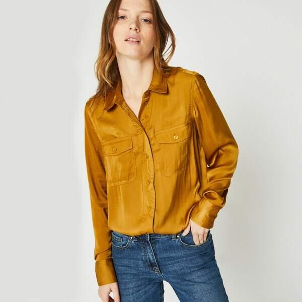 Tendance chemise : satinée