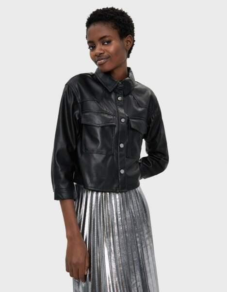 Tendance chemise : simili cuir