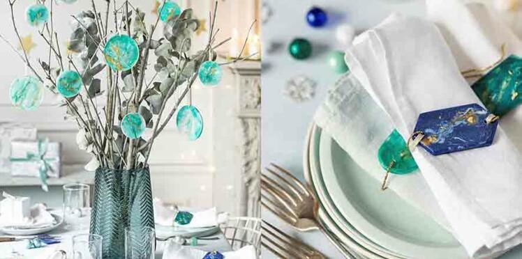 Noël : déco de table en résine