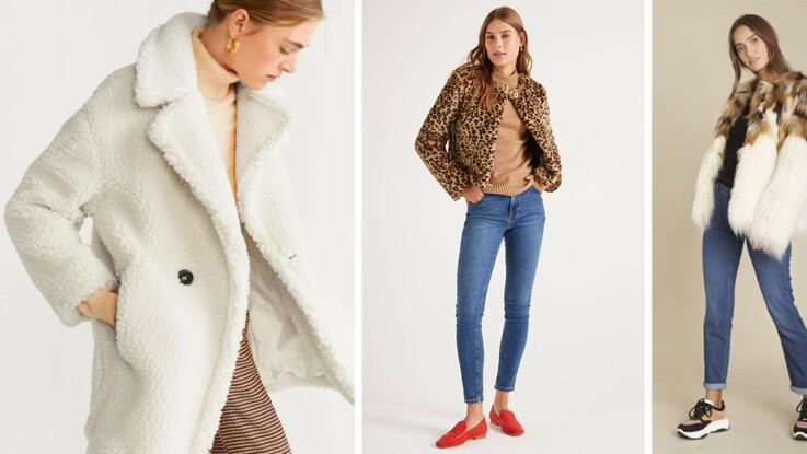 """Manteaux d'hiver : """"moumoute"""", fluffy ou fausse-fourrure, les modèles les plus doux du moment !"""