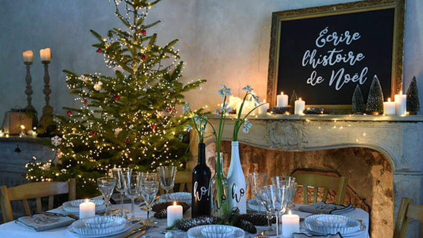 DIY Noël : déco de table en écritures