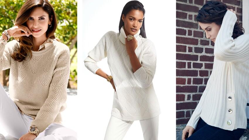 Bien porter le blanc en hiver après 50 ans