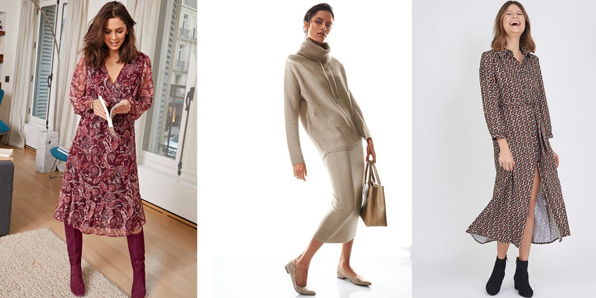 Mode 50 Ans Bien Porter La Robe Longue Selon Sa Morphologie Femme Actuelle Le Mag