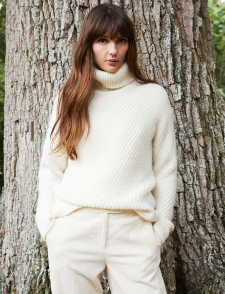 Tendance blanc d'hiver : le look cosy
