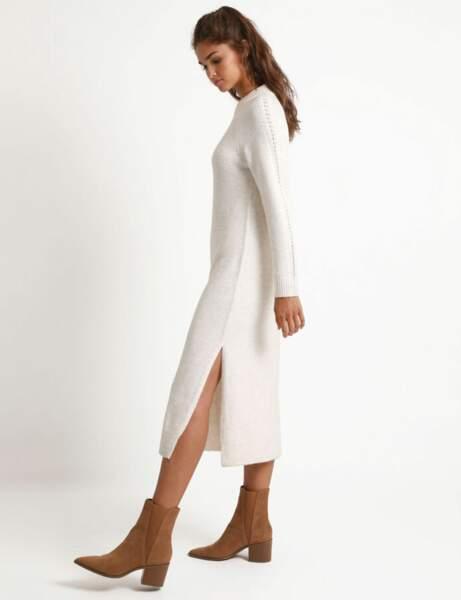 Tendance blanc d'hiver : la robe longue