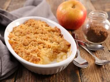 Pommes, poires, kiwis ou mangue : nos recettes de crumbles d'hiver pour un dessert facile