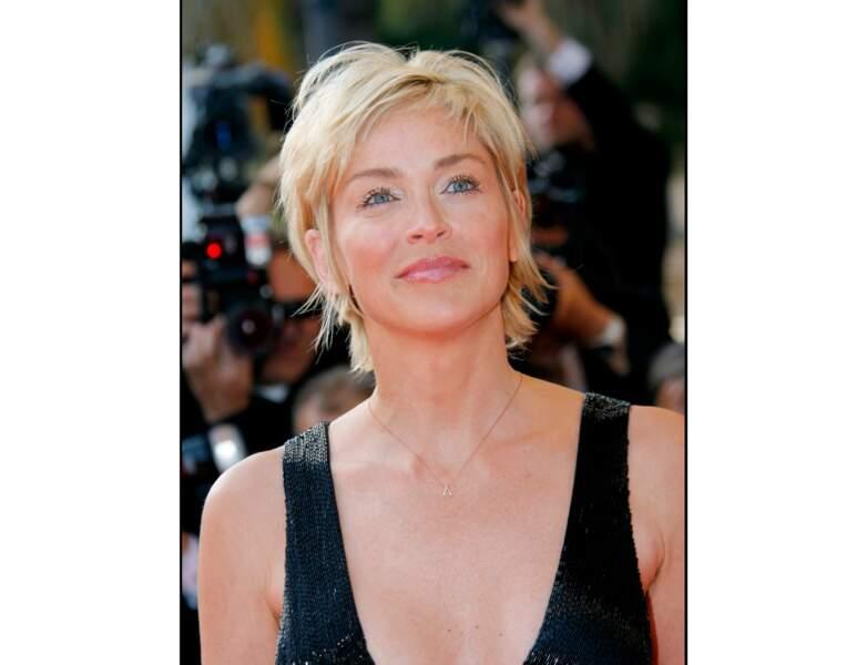 2007 : Sharon Stone est à Cannes