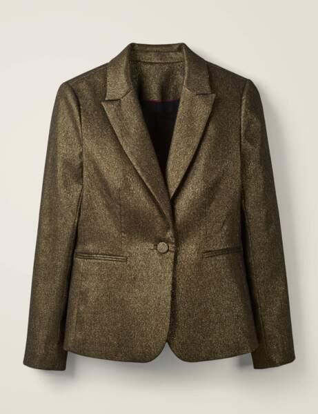 Tendance métallisée : le blazer doré