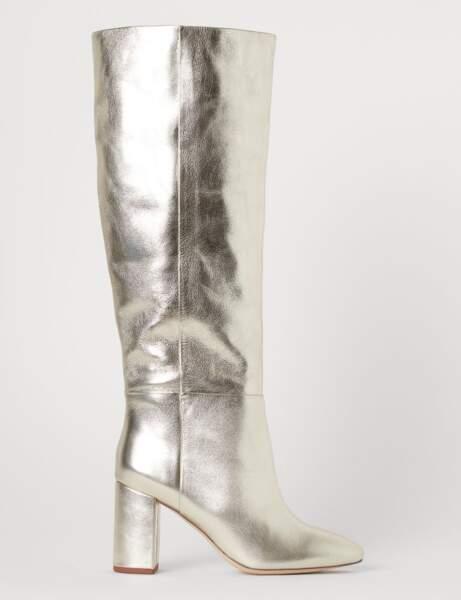 Tendance métallisée : les bottes dorées