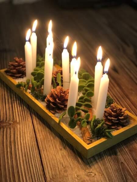 Tuto Noël : un centre de table lumineux