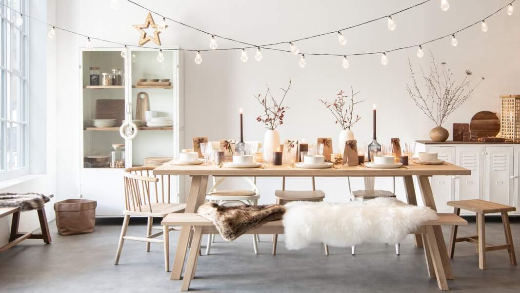 Une déco de table nature pour les fêtes