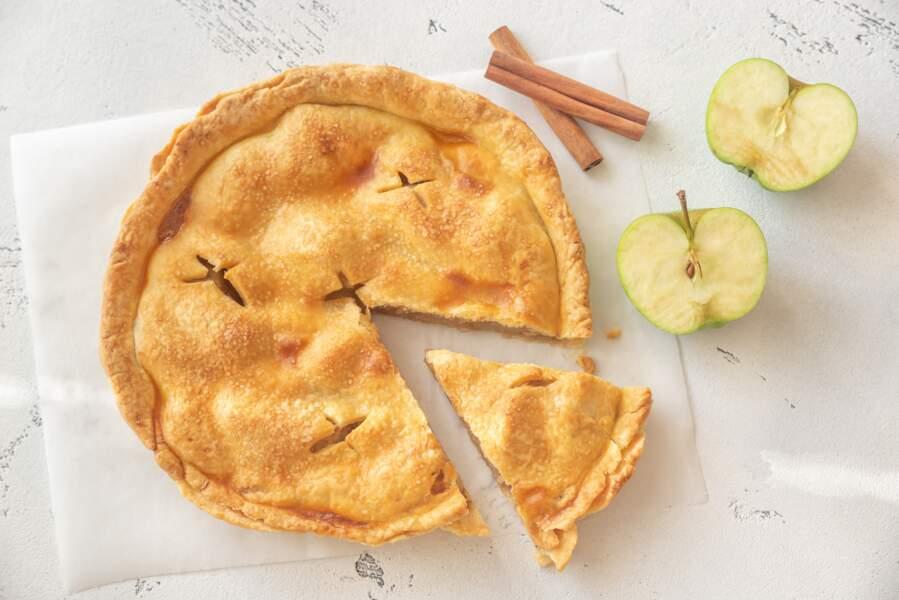 Tourte aux pommes et aux myrtilles