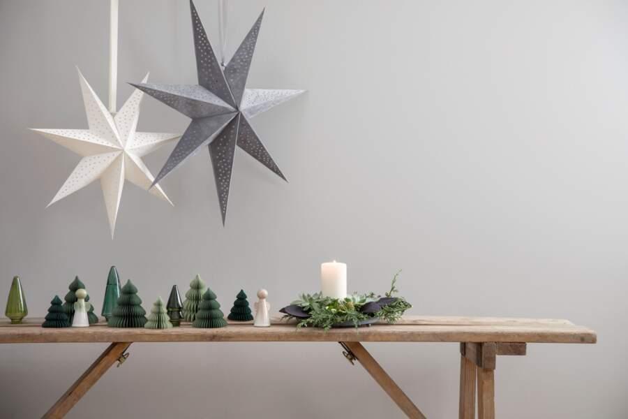 Une déco de Noël en papier