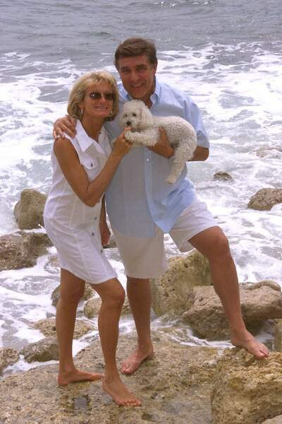 Jean-Pierre Foucault et sa compagne Evelyne Jarre en 2000