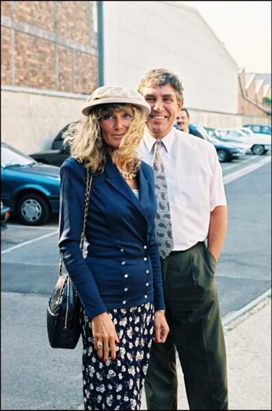 Jean-Pierre Foucault et sa compagne Evelyne Jarre en 1995