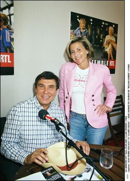 Jean-Pierre Foucault et Claire Chazal en 2004