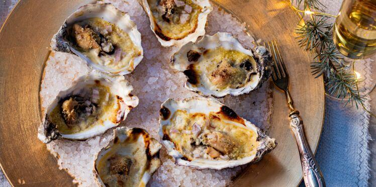 Huîtres chaudes au pineau des Charentes