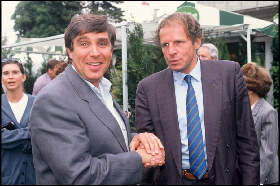 Jean-Pierre Foucault et Patrick Poivre d'Arvor en 1989