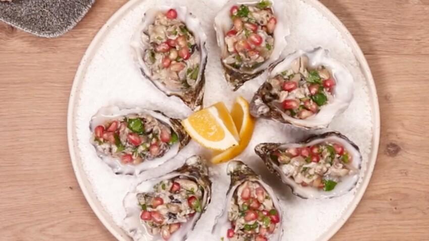Recette de fêtes WW : Tartare d'huîtres au citron vert et craquelins au sarrasin