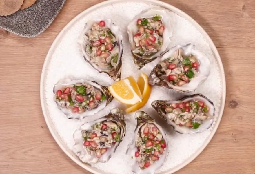 Cancer : un tartare d'huîtres au citron vert et craquelins au sarrasin pour Noël