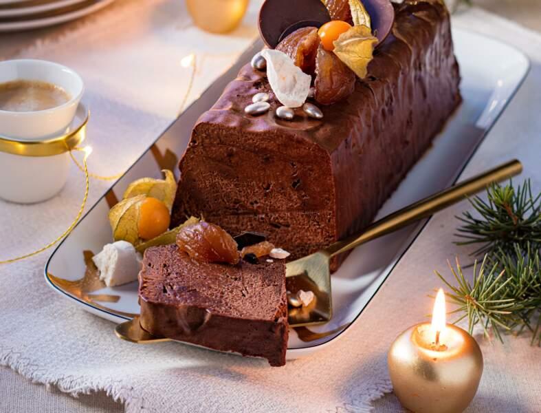Terrine fondante marron-chocolat