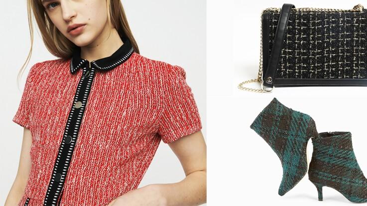 Tweed tendance : 10 vêtements et accessoires canons à shopper de toute urgence !