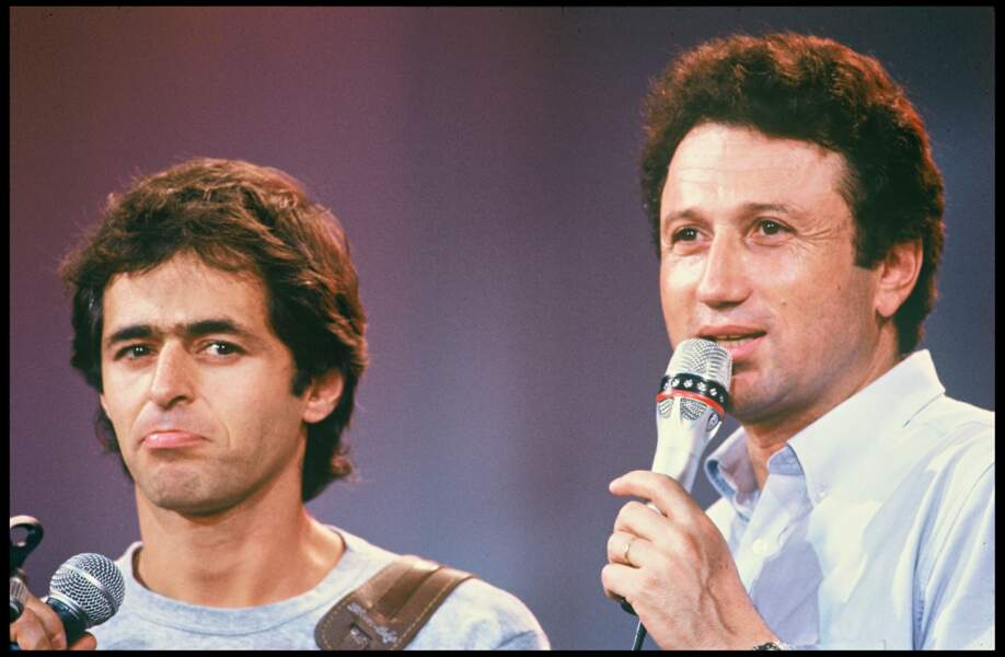 Michel Drucker et Jean-Jacques Goldman en 1987