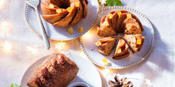 Mini pain d'épices aux oranges confites et noix de macadamia