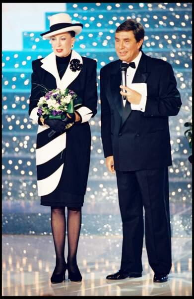 Jean-Pierre Foucault et Geneviève de Fontenay en 1997