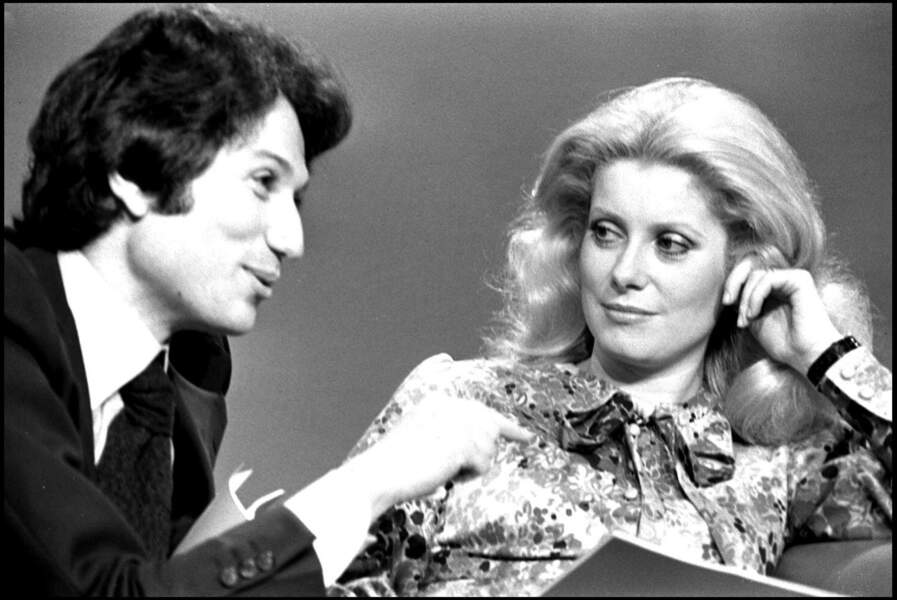 Michel Drucker et Catherine Deneuve en 1977