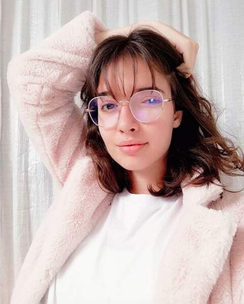 Les lunettes avec une frange fine