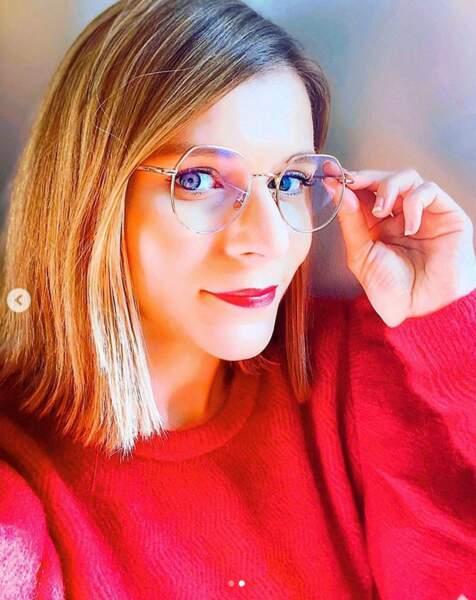 Les lunettes avec un carré droit