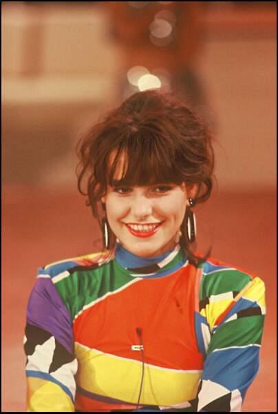 Lio avec une coiffure floue en 1986