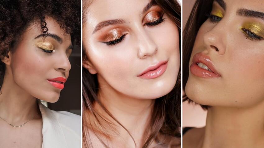 3 façons d'adopter le fard à paupières doré inspirées des instagrameuses