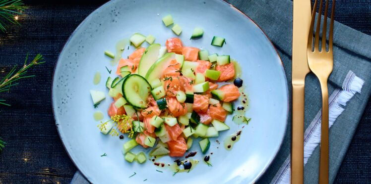 Tartare de saumon à la pomme