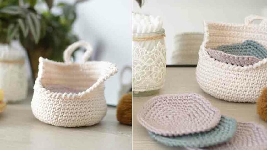 Crochet gratuit : la corbeille de salle de bain