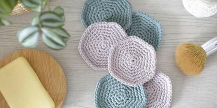 Crochet gratuit : les disques démaquillants lavables