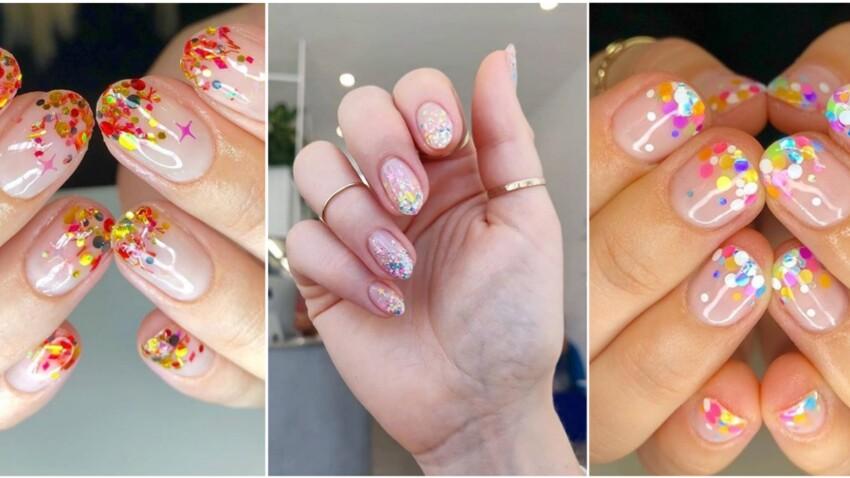 Manucure confettis, la tendance à adopter pour les fêtes