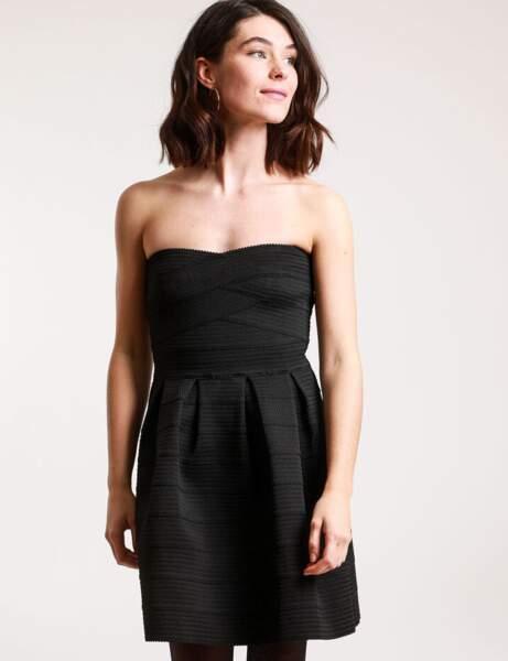 Siyah elbise: büstiyer