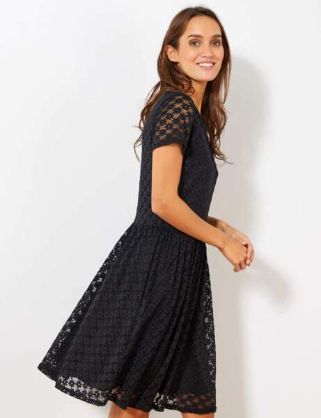 Siyah elbise: dantel