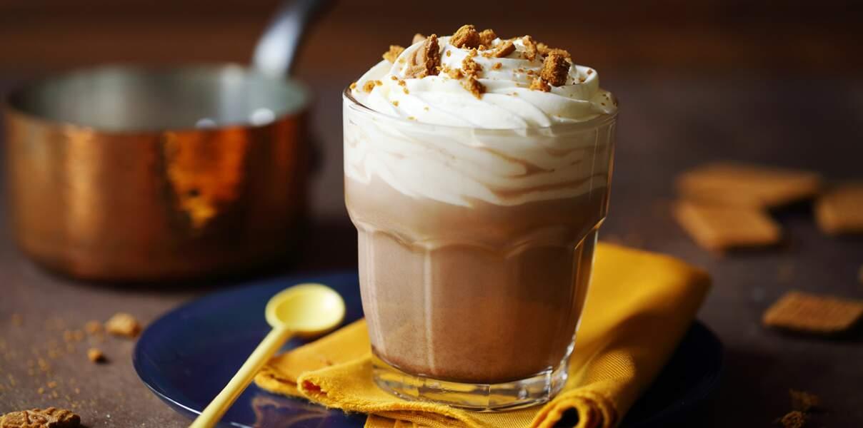 Chocolat chaud chantilly et spéculoos