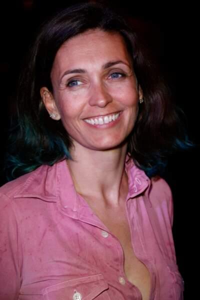 Adeline Blondieau et ses mèches bleues en 2017