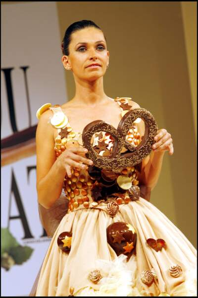 Adeline Blondieau au Salon du Chocolat en 2006
