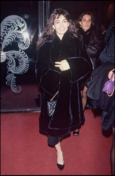 Adeline Blondieau en 1991, elle a 20 ans