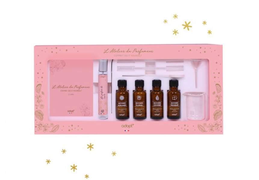 Un kit pour réaliser un parfum personnalisé : Adopt