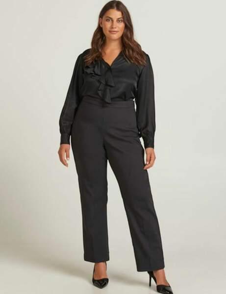 Yuvarlak moda: Toplam sofistike siyah görünüm