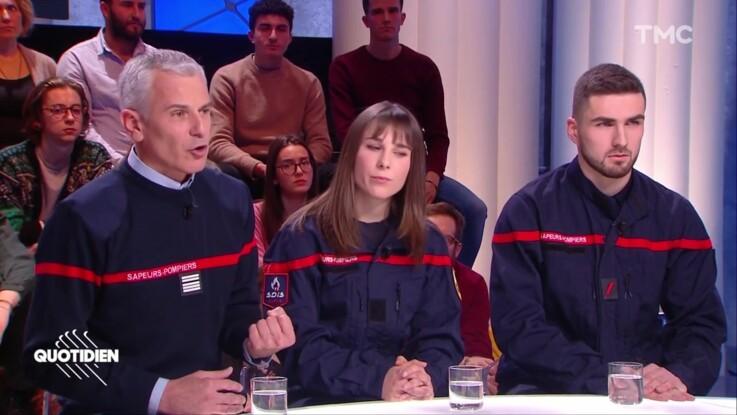"""""""Quotidien"""" : un pompier volontaire très séduisant affole les téléspectateurs"""