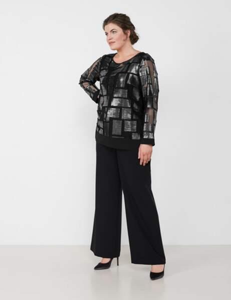 Yuvarlak moda: ışıltılı tişört