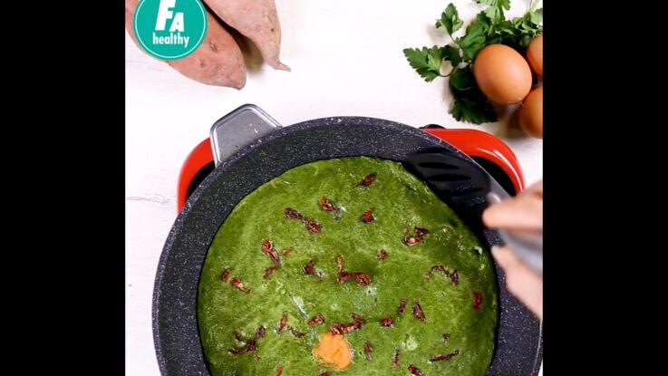 Tortilla à la patate douce de Juju Fitcats