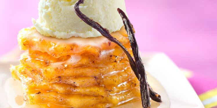 Ananas rôti à la vanille